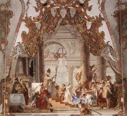The marriage of Beatrice and the Emperor Friederick Barbossa.  Fresco by Tiepolo.