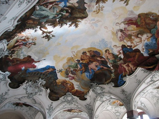 Fresco by Tiepolo in the Wurzburg Residence.