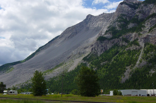 Frank Slide as seen from the West