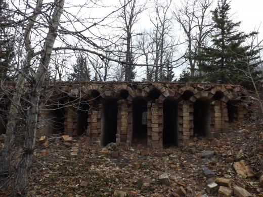 Old Coke Ovens in Lille, Alberta
