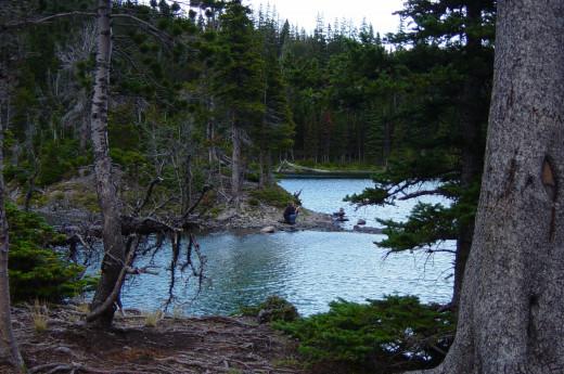 Fishing at Window Mountain Lake