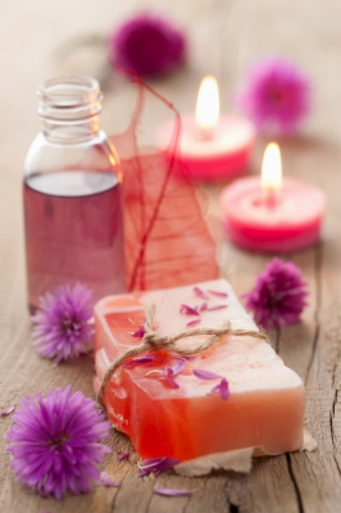 setting the right ambiance for your home spa is essential. use scented candles, aromatic homemade air fresheners or potpourri. all easily made from simple ingredients.