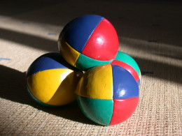 The standard juggling balls, also known as 'thuds'.