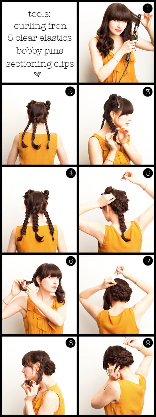 A step by step guide to a braided wedding hair style