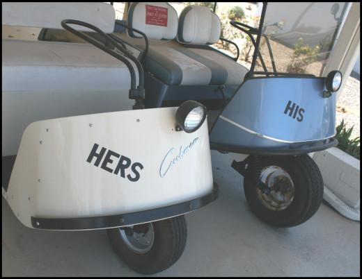 1950's Golf Carts