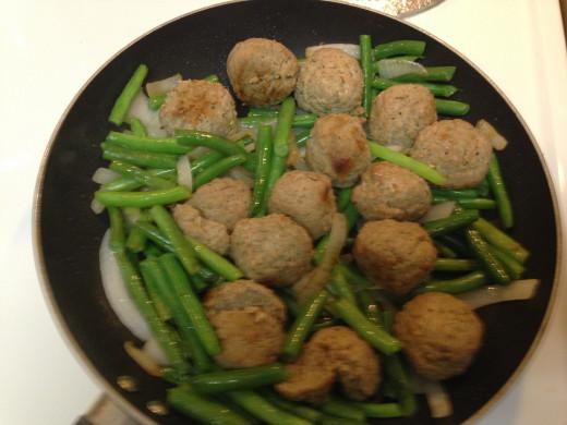 Add Frozen Meatballs