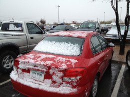 My Kia covered with snow.