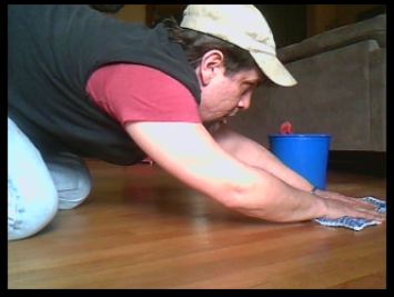 """When a little """"elbow grease"""" is applied,  the natural beauty of a hardwood floor can last for years & years."""