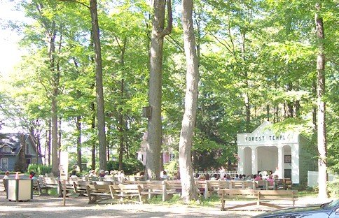 A Spiritualism service in progress at the Forest Temple in Lilydale, NY. This was taken the summer of 2006.