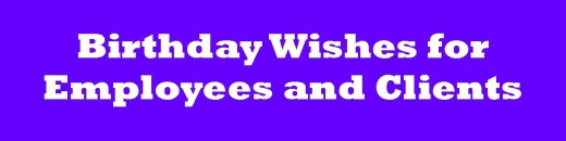 Business birthday card messages wishes for clients and
