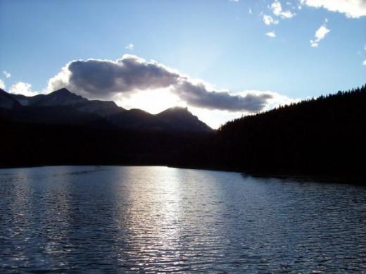 Sunset at Chinook Lake aka Allison Lake