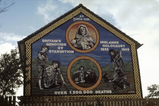 Famine Mural on Whiterock Road, Belfast 2007