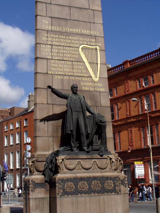 Statue of Charles Stewart Parnell, O'Connell Street, Dublin, Ireland