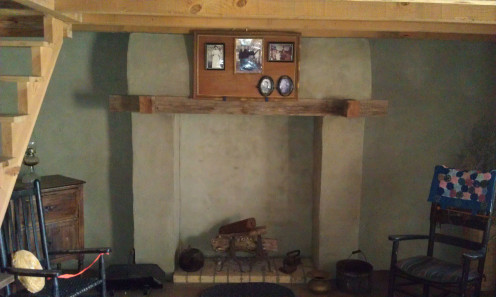 Fireplace and mantel in the Refour House.