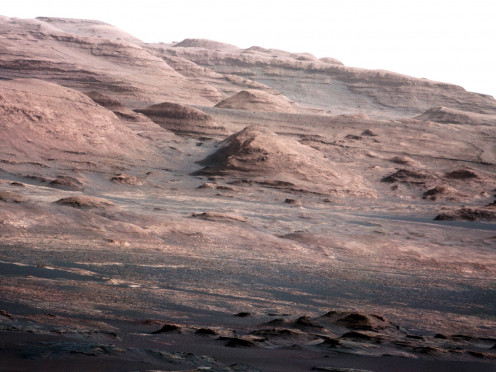 Photo taken by Mars Curiosity rover on August 23, 2012.