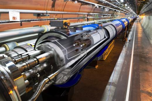 Large Hadron Collider - speed of light