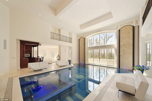 Modern Interior Design with an Indoor Swimming Pool