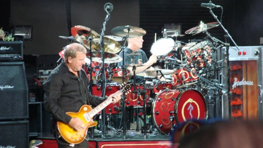 A pretty good shot of Alex & Neil of the band Rush. Columbus, Ohio 2007.