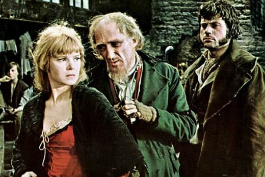Shani Wallis, Ron Moody and Oliver Reed in Oliver! (1968)