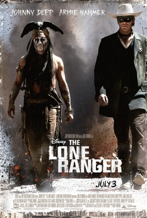 Johnny Depp stars as Tonto and Armie Hammer as The Lone Ranger.