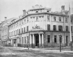 The Bank of British North America, designed by John Howard and constructed in 1845-6, in 1867