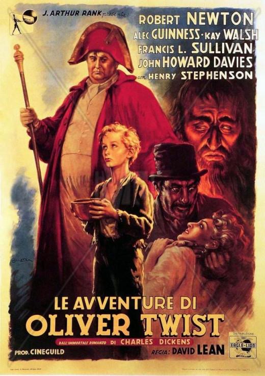 Oliver Twist (1948) Italian poster
