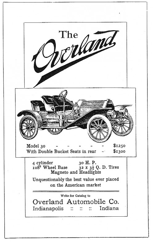 Early American Car Advertisement