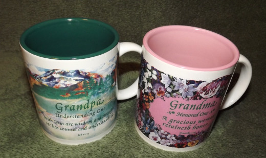 Grandpa and Grandma Mugs Northwestern Products