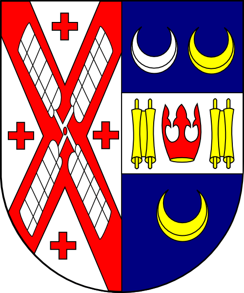 Coat of arms (shield only) of Timothy Cardinal Dolan, archbishop of Milwaukee (2002 - 2009)