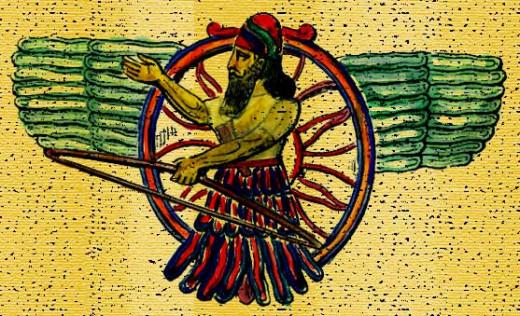 Ashur, national god of Assyria.