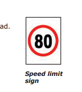 Speed Signs.