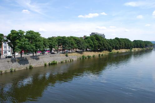 Quai des Ardennes beside the Ourthe river, Liège