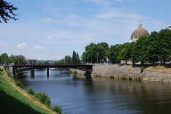 Fétinne Bridge, by the confluence of the Ourthe and Meuse, Liège