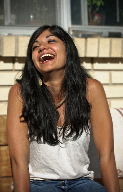 Laughing woman.