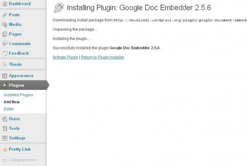 "Click ""Activate Plugin"" after the installation finishes."