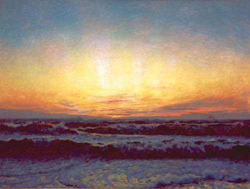 Laurits Tuxen: The North Sea in a storm.