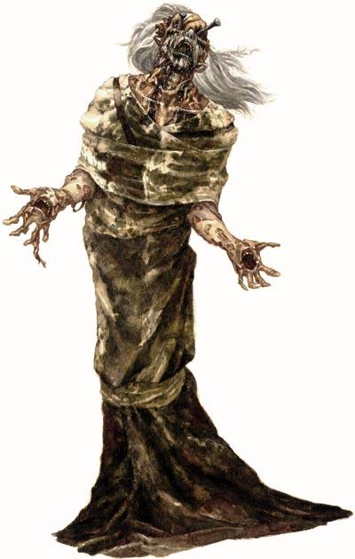 """An undead figure from the D&D handbook """"Libris Mortis"""""""