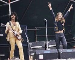 Ozzy with Tony Iommi of Black Sabbath in 1973