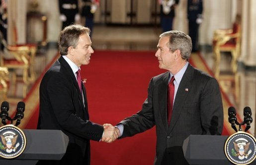 Tony Blair's involvement with the USA's George Bush and the invasion in Iraq proved not to be a popular move.
