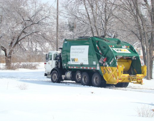 waste management was out running their trash routes the day after round 2 wichita, ks 2/2013
