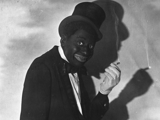 Bert Williams was the only black member of the Ziegfeld Follies when he joined them in 1910. Shown here in blackface, he was the highest-paid African American entertainer of his day. Often black artists would perform in white face also.
