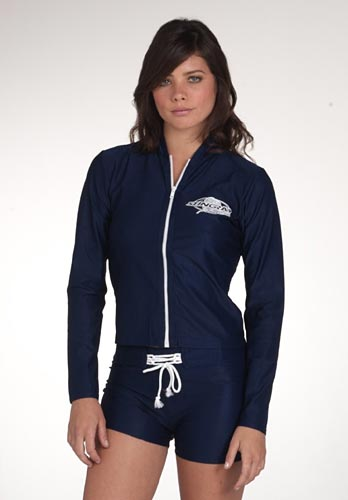 Ladies Zip Jacket-long sleeve rash by solartex