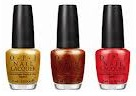 OPI Oy-Another Polish Joke; A Woman's Prague-ative; My Paprika Is Hotter Than Yours