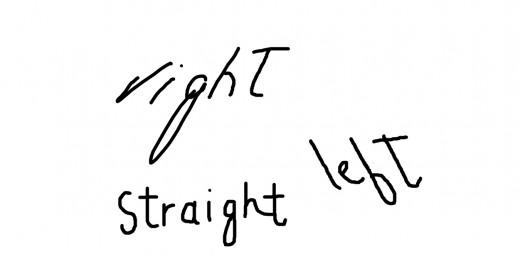 Right, Left & Straight Writing Slants