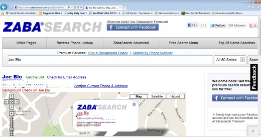 Zabasearch Results