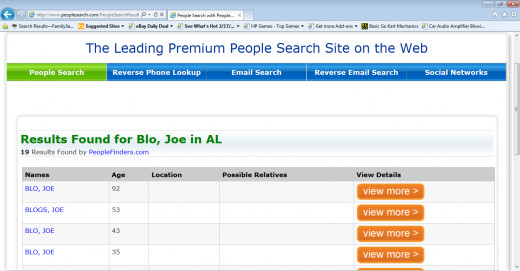 Peoplesearch Results