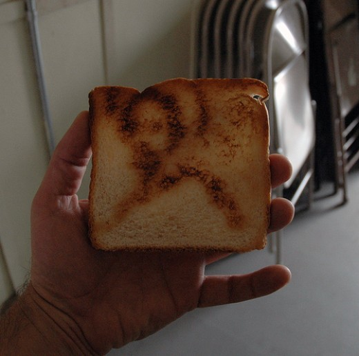Jesus Toast (not real by the way, there are toasters that do this now)