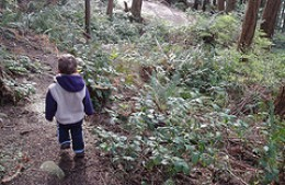 Kids love to explore the outdoors!