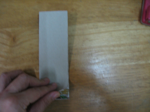 fold card into half