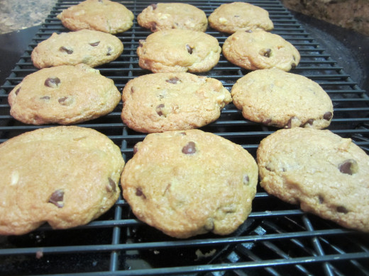 Let the cookies cool slightly; transfer to wire racks.